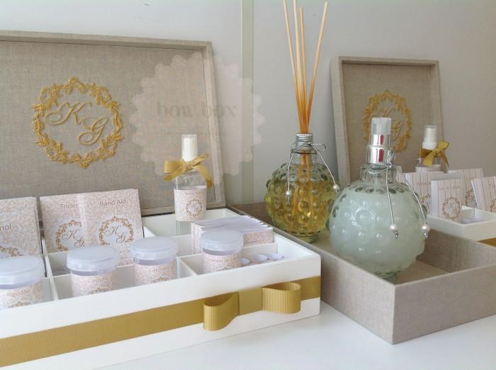 Kit Banheiro Molde : Kit toilette dourado bow box