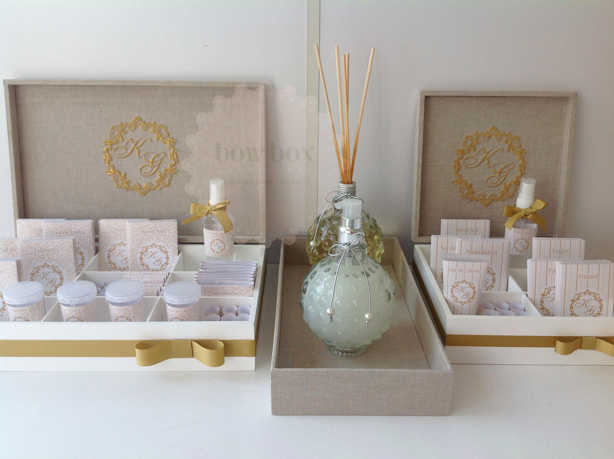 Kit Banheiro Casamento Moldes Dourado : Toil dourado bow box
