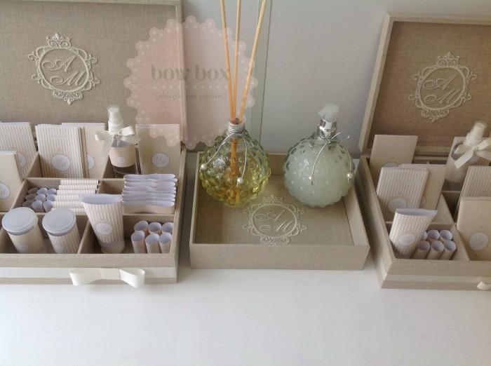Kit Banheiro Casamento Moldes Dourado : Kit banheiro personalizado bow box