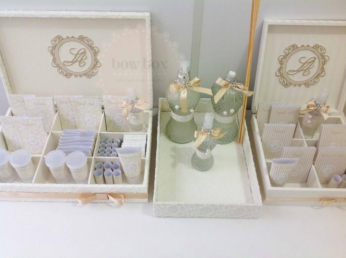 Kit Banheiro Casamento Floral : Caixas para os banheiros casamento larissa bow box